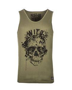MZGZ Brand The Level Wild Tank Top Olive