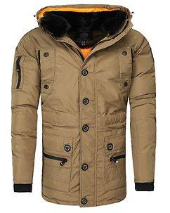 Geographical Norway Calcul Parka Jacket Beige