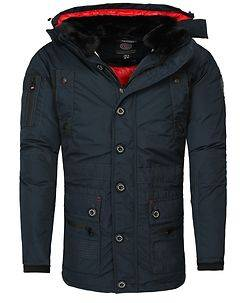 Geographical Norway Calcul Parka Jacket Navy