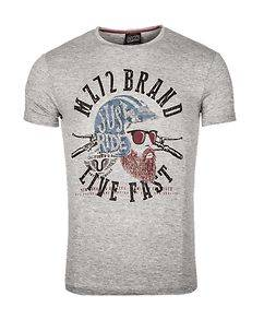 MZ72 Brand The Knife T-Shirt Light Grey Melange