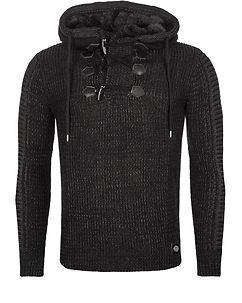 Rusty Neal Clement Knit Hoodie Black
