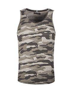 MZ72 Brand Taillis Tank Top Light Grey Camo