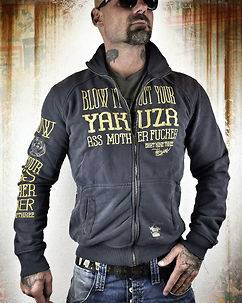 Yakuza Ink Blow It Out Zipper Anthracite
