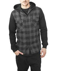 Urban Classics Mountain Flanell Black/Anthra