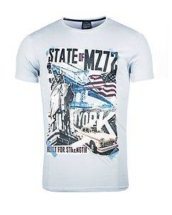MZ72 Brand The City T-Shirt Light Blue