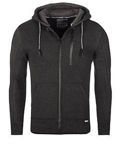 MZ72 Brand Lonas Hooded Jacket Dark Grey