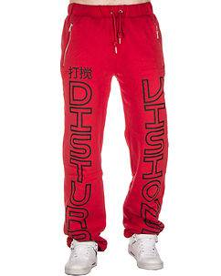 Disturb Clothing Visions Sweat Pants Red