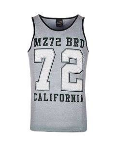 MZ72 Brand The Breath Tank Top Blue Melange