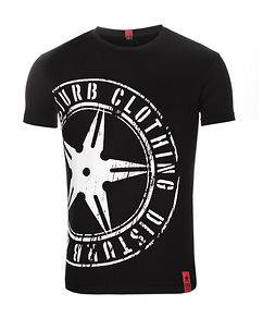 Disturb Clothing The Throwing Star Tee Black/White