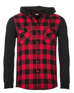 Urban Classics Mountain Flanell Black/Red