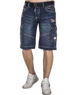 Geographical Norway Peso Shorts Denim Blue