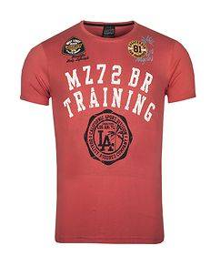 MZ72 Brand The Patch T-Shirt Coral Red
