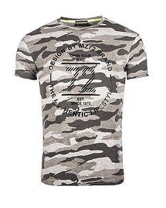 MZ72 Brand Tactik T-Shirt Light Grey Camo