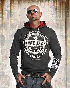 Yakuza Ink Trade Of Kings Hoodie Dark Grey
