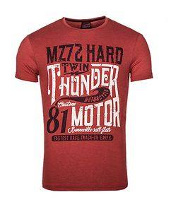 MZ72 Brand The Device T-Shirt Red Melange
