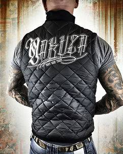 Yakuza Ink Daily Use Quilted Vest Black