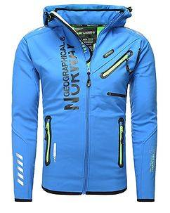 Geographical Norway Richier Softshell Jacket Blue
