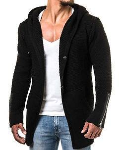 Carisma Heath Knit Hoodie Black