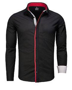 Rusty Neal Connor Shirt Black/Red