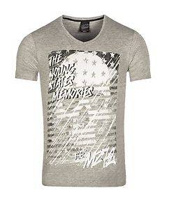 MZ72 Brand The Flame T-Shirt Light Grey
