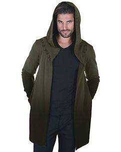 Carisma Damion Hooded Cardigan Dark Khaki