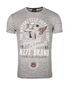 MZ72 Brand The Device T-Shirt Light Grey