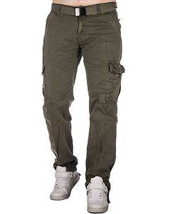 Highness Chey Cargo Trousers Green