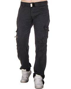 Highness Chey Cargo Trousers Grey