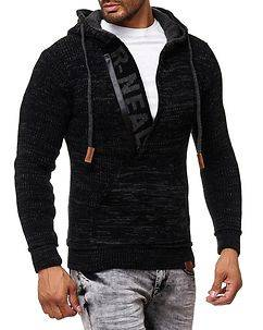 Rusty Neal Dexter Knit Hoodie Black/Antracite