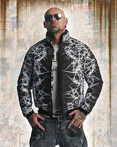 Yakuza Ink Thorns Quilted Jacket Black