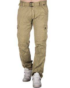 Highness Westby Cargo Trousers Khaki Beige