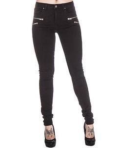 TOXIK3 Silvana Jeans Zipped Black