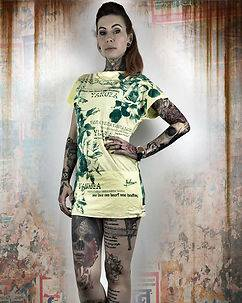 Yakuza Ink Flower Dress Yellow