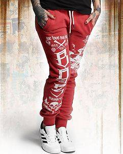 Yakuza Ink One Heart Sweatpants Red