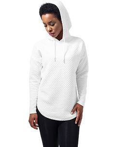 Urban Classics Quilt Oversize Hoodie Off White
