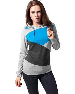 Urban Classics Jersey Hoodie Grey/Turquoise