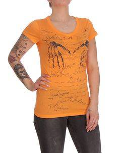 Yakuza Ink Skeleton Tee Orange