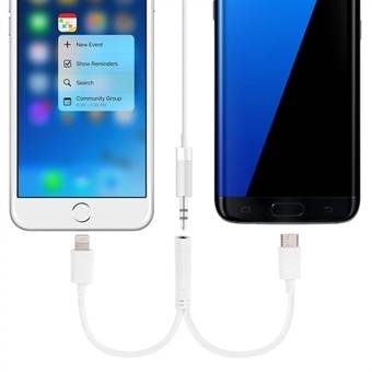 Apple Äänisovitin 3.5mm iPhone 7  &  Tyyppi-C USB Portilla