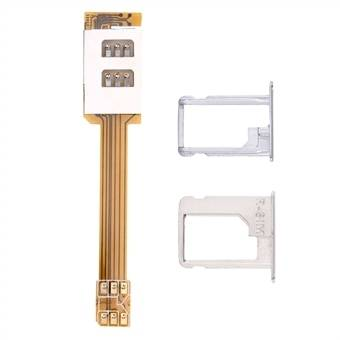 Apple Sim-kortin adapteri kahdelle iphone 5 / 5S / SE – malleille