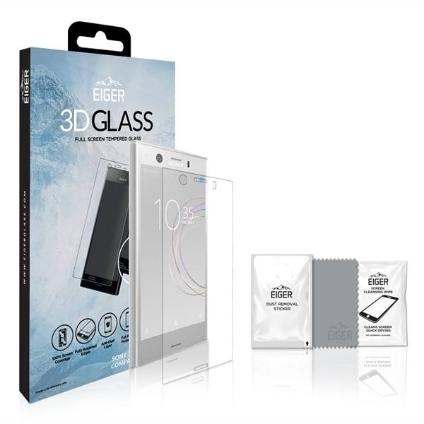 Sony Eiger 3D Screen Protector Glass Sony XZ1 Compact Clear