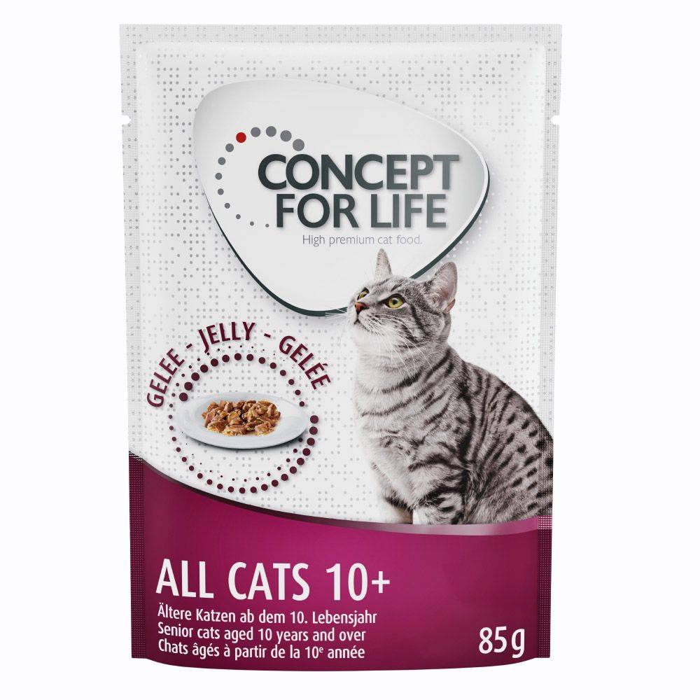 Concept for Life All Cats 10+ - in Jelly - 48 x 85 g