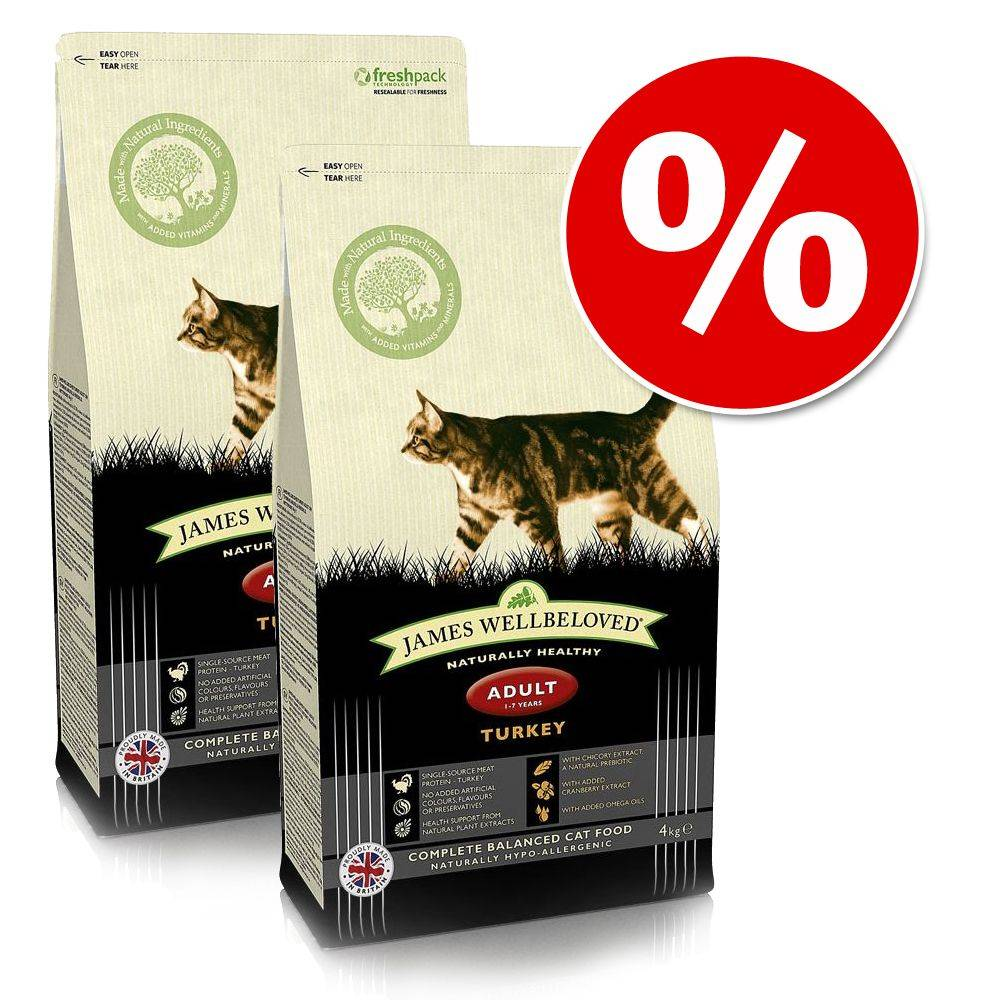 James Wellbeloved -säästöpakkaus - Adult Cat Oral Health - Turkey 3 x 4 kg