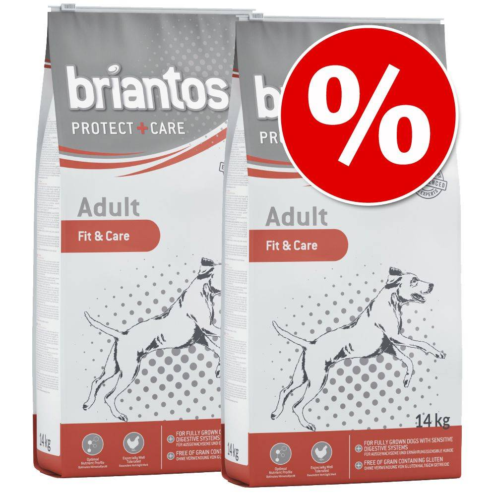 Briantos Protect + Care -tuplapakkaus - Adult Fit & Care (2 x 14 kg)