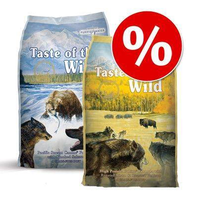 Taste of the Wild Sekoitettu säästöpakkaus: 2 x 13 kg Taste of the Wild - High Prairie + Pacific Stream