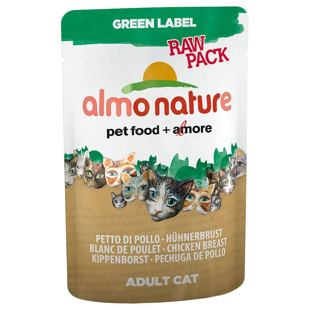 Almo Nature Label Almo Nature Green Label Raw Pouch 12 x 55 g - kanankoipi