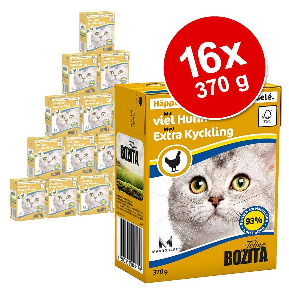 Bozita Chunks in Jelly 16 x 370 g - ankka