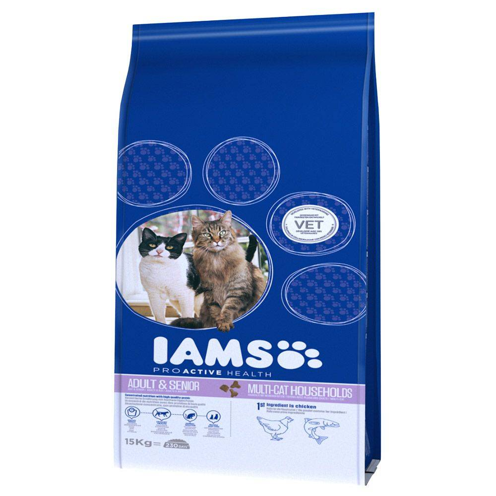 IAMS Pro Active Health Adult Multi-Cat Household - 15 kg