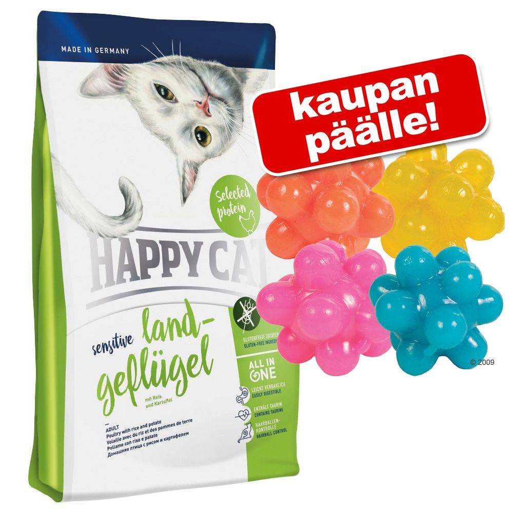 Happy Cat Supreme Happy Cat kissanruoka 4 kg + nystyräpallot kaupan päälle! - 4 kg Happy Cat Indoor Adult Lamb