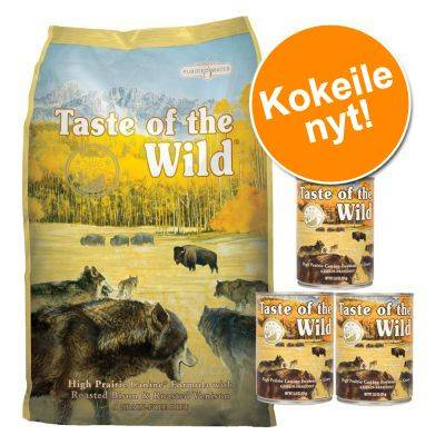 Taste of the Wild -kokeilupaketti: 6 kg + 3 x 374 g - Pacific Stream Canine