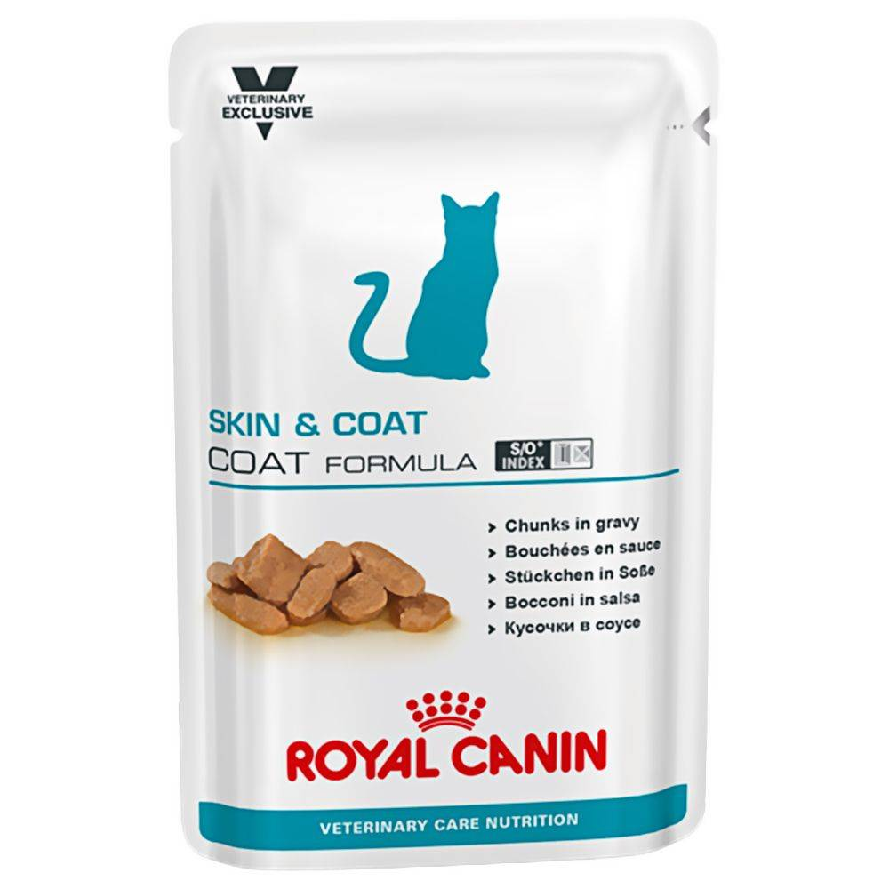 Royal Canin Veterinary Diet Royal Canin Adult Skin & Coat - Vet Care Nutrition - 12 x 100 g